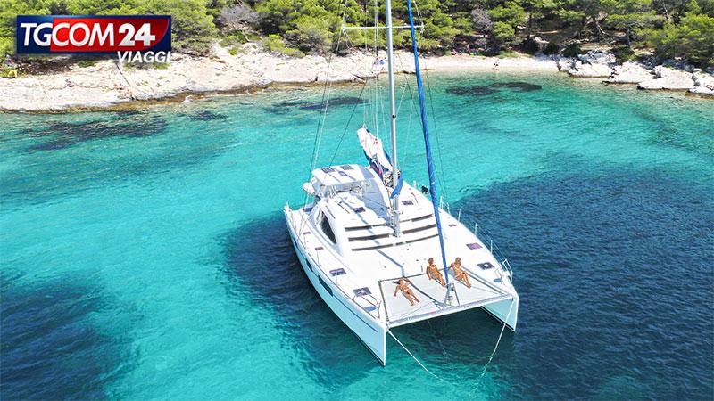 Navigando lungo la costa Croata.